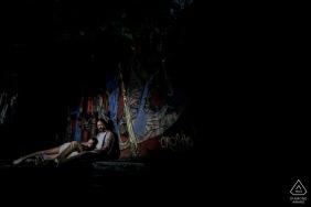 São Paulo, Brazil portrait e-session with urban dark tones