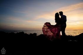 Séance électronique de portraits du parc d'État de Fort Zach sous le coucher de soleil de Key West à la plage