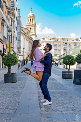 Jaén, Spain environmental engagement e-session with a playful lift in the city