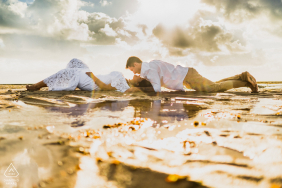 Maceió, Brazil environmental engagement e-session under the sun with reflections and kisses