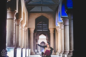True Love Pre-Wedding Portrait Session in Muscat capturing a couple caught up in spring and love