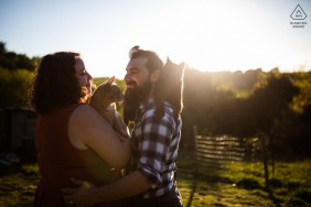 Cruguel couple e-session in Brittany with their cats