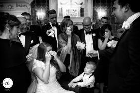 Claridges Hotel London wedding |Bride and groom meet before the ceremony