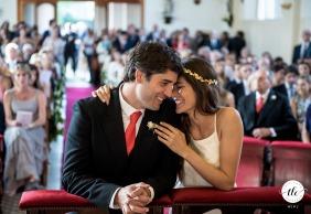 Buenos Aires, Argentina ceremonia de boda de la pareja en el altar