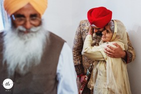 Wolverhampton, UK Asian Groom with his grandmother in this award winning wedding image