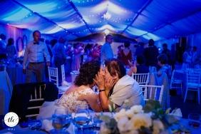 Villa Ekaterina, Bulgaria real wedding moment of  granny give a kiss to the bride