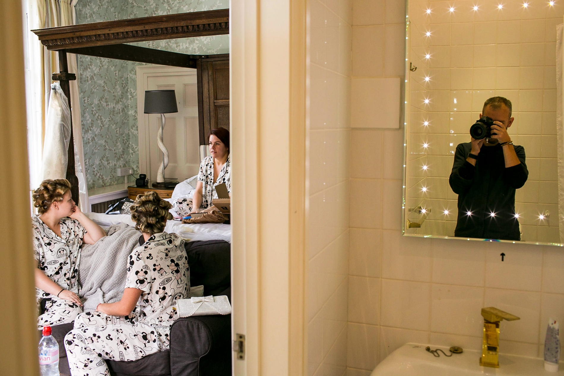 Aaron Storry photography during Bridal Prep at a UK wedding.