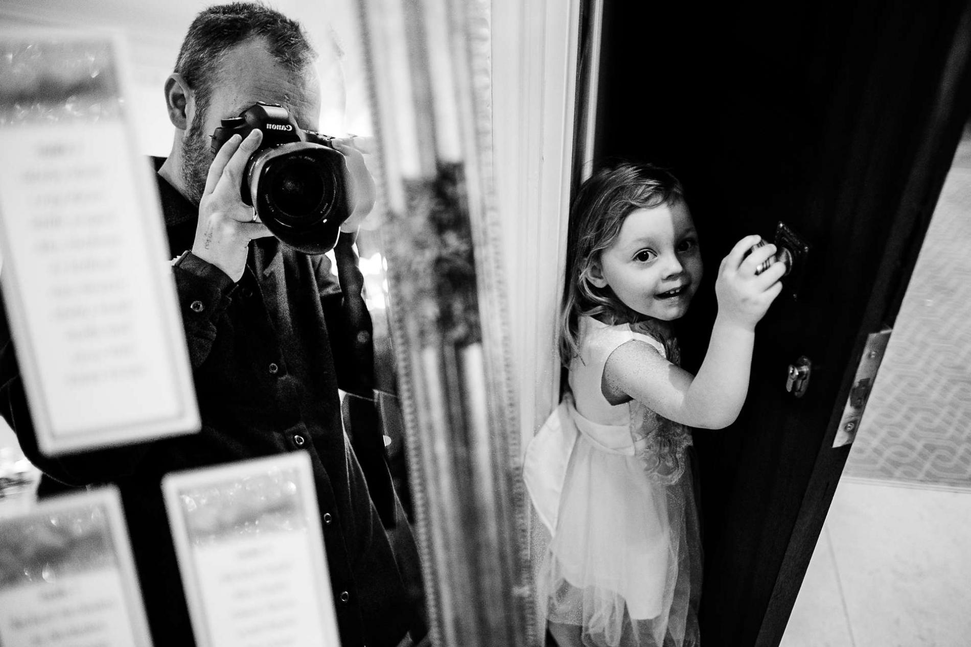 Fotograaf die van Kettering Northamptonshire bij een huwelijk werkt.