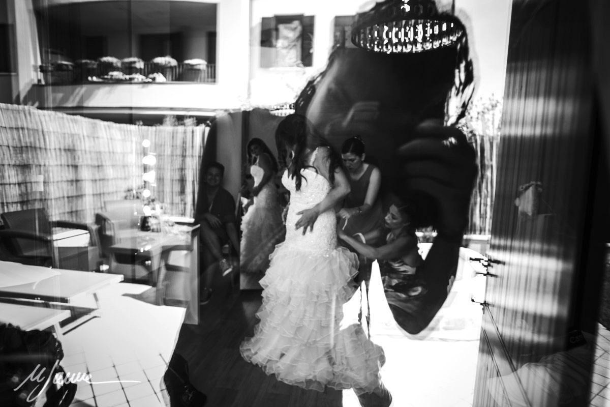 Emilia-Romagna fotograf ślubny za kamerą przy pracy