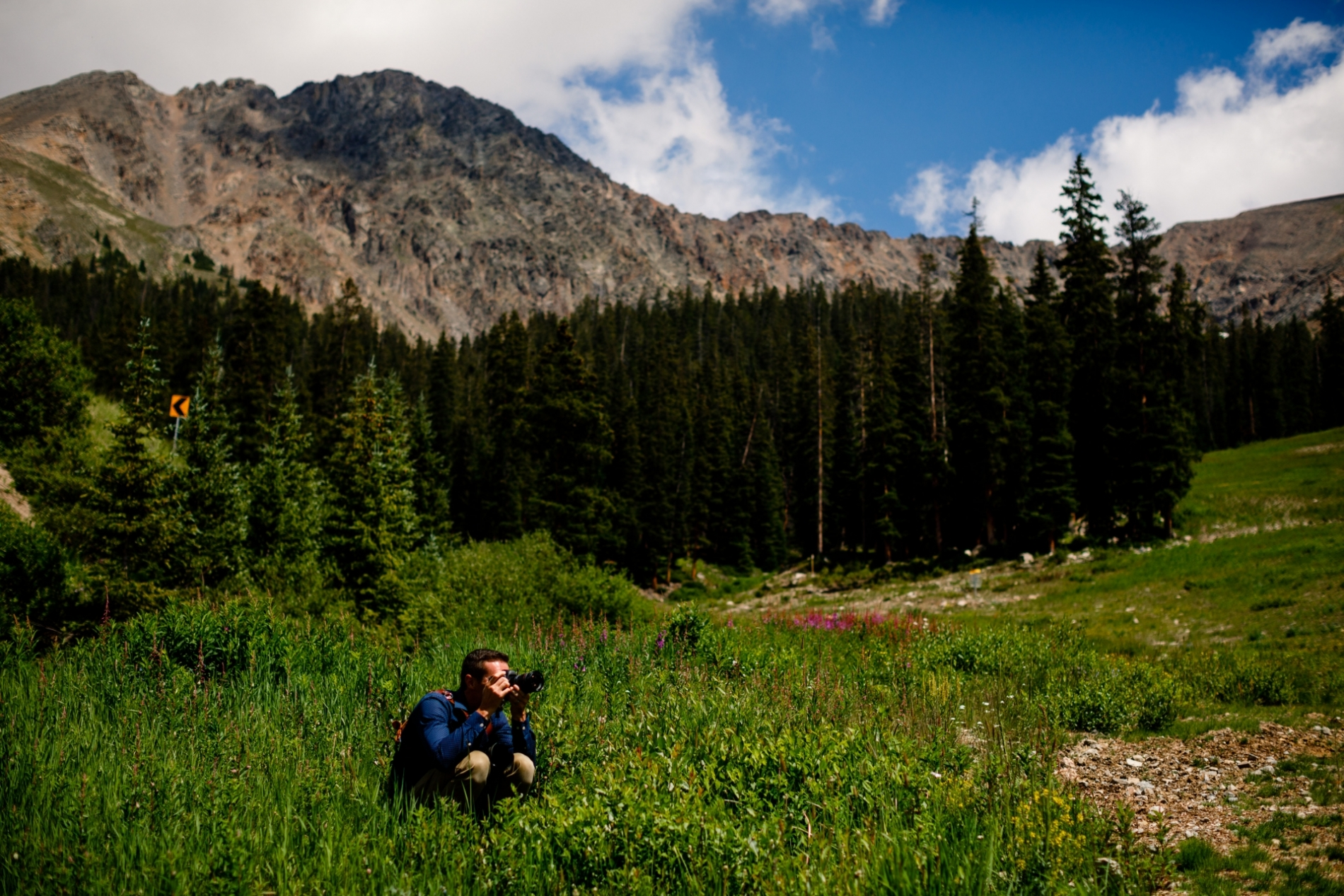 Colorado wedding photographer at working during an event