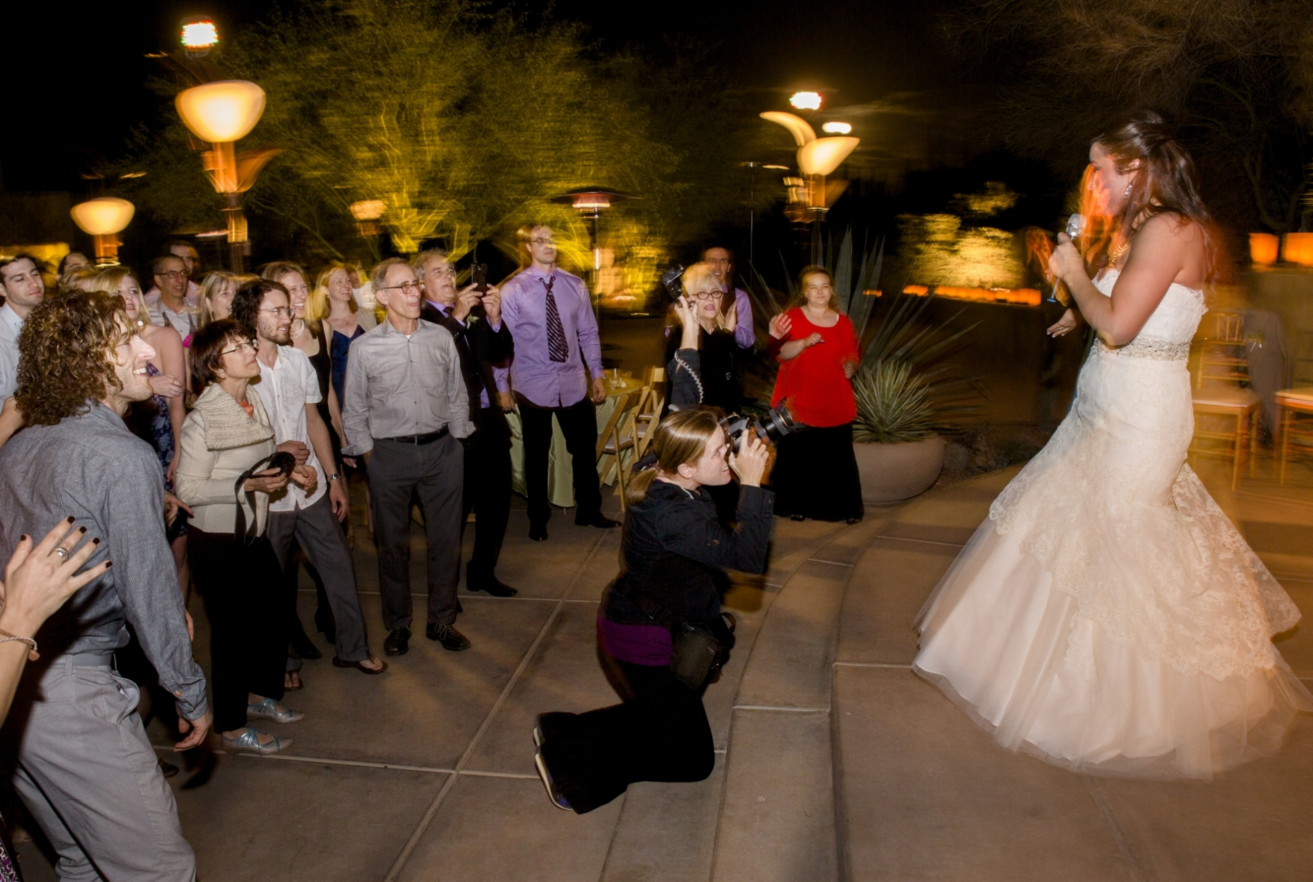 A working shot of Laura Segall, wedding photographer for AZ