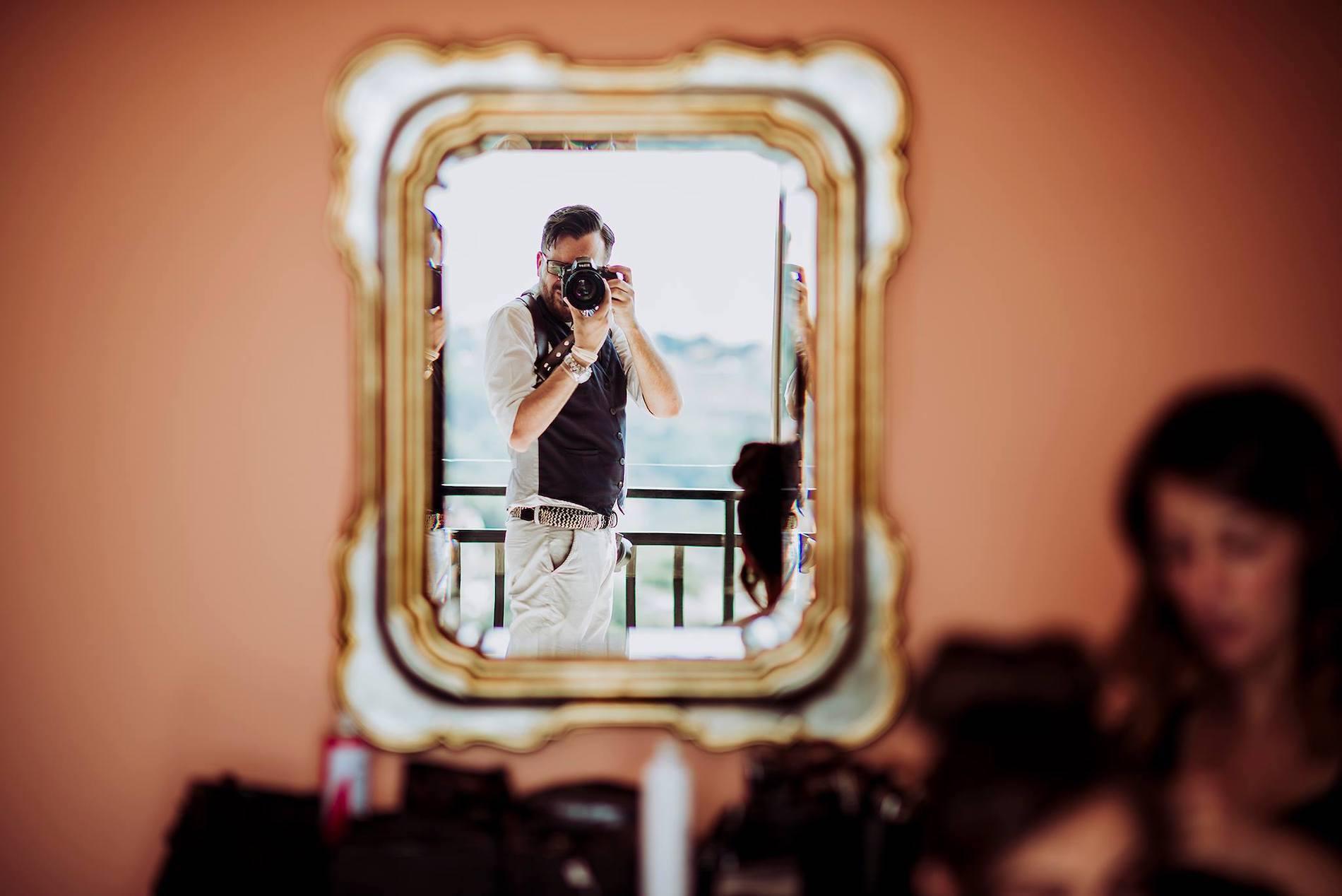 Autorretrato del fotógrafo de bodas de Apulia y Taranto Marco Colonna