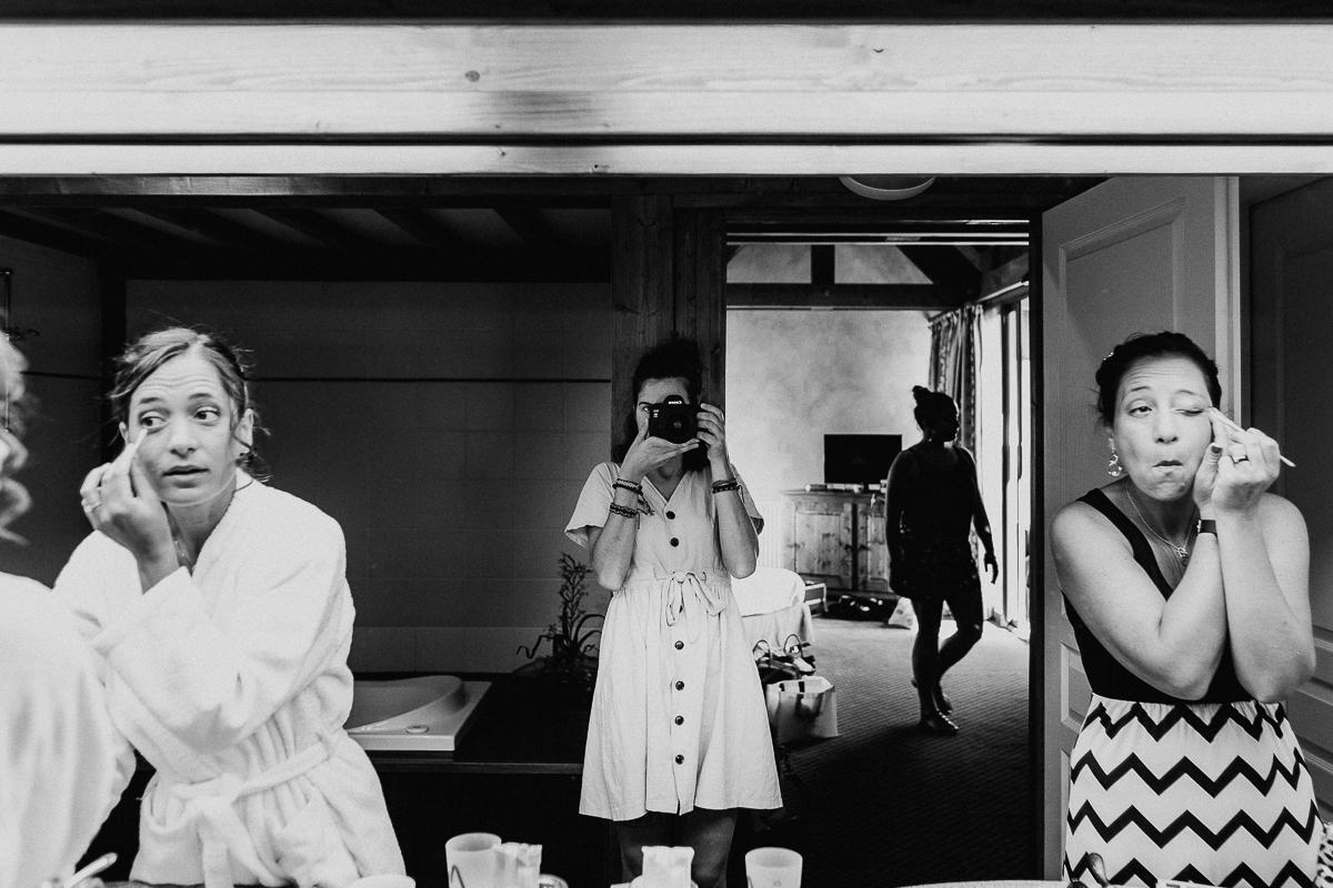 Vaud wedding image of photographer at work - Jennifer Voisin, of Switzerland