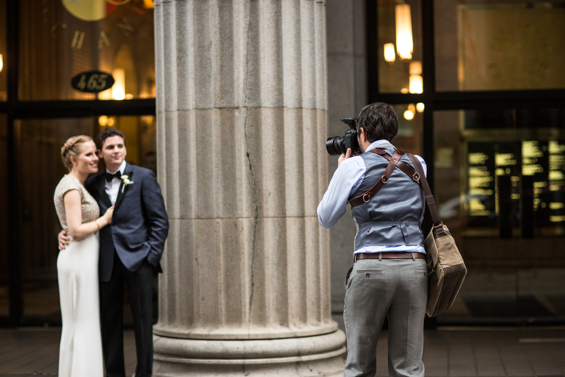 Wedding couple being photographed by Drew Bird of San Francisco