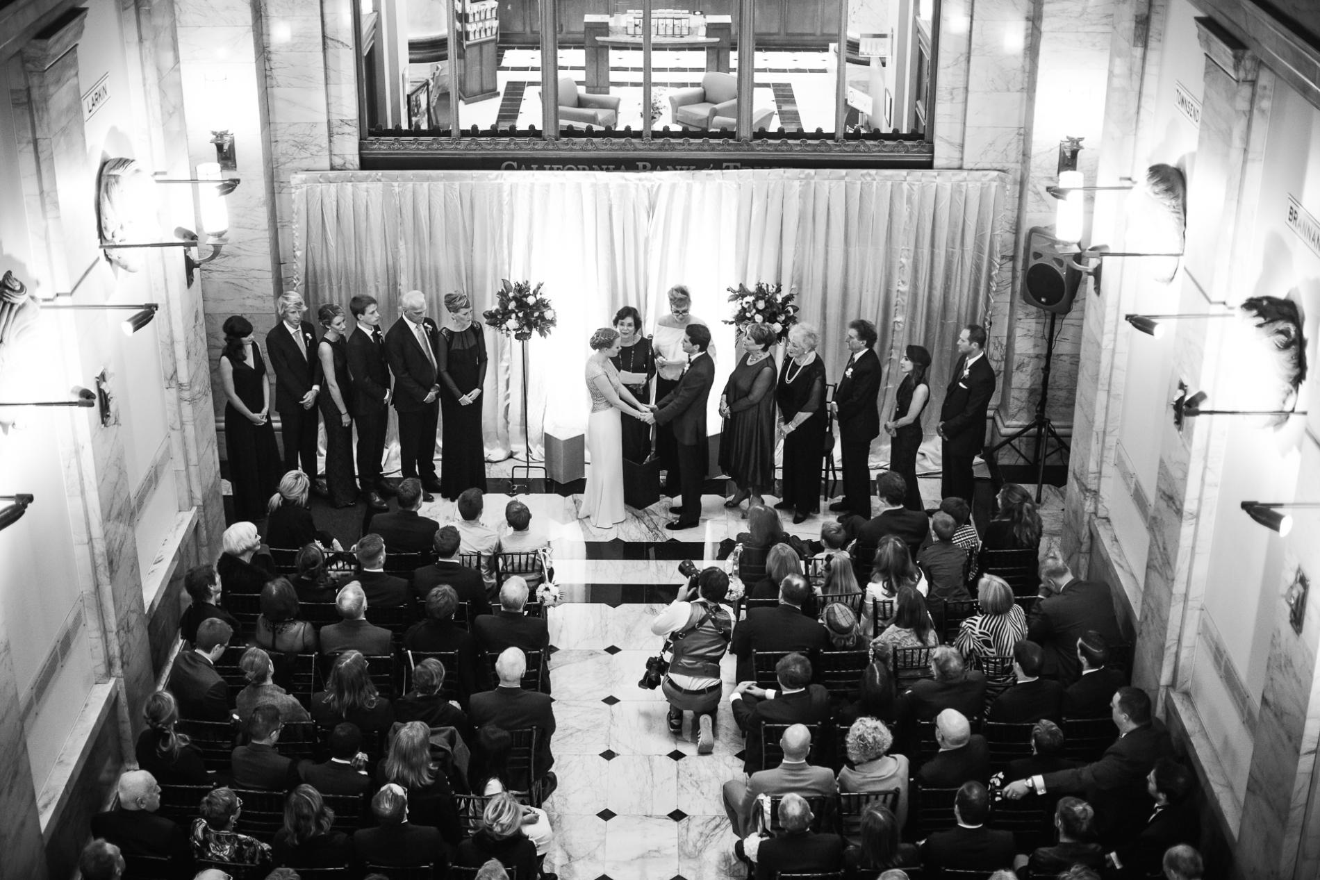 San Francisco Hochzeit Fotojournalist Drew Bird. Julia Morgan Ballsaal Hochzeit.