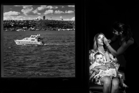 Istanbul Turkey Wedding image of bride getting ready at bosphorus palace