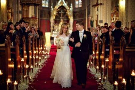 St. Ludmila Church, Prague, Czech Republic wedding ceremony photography