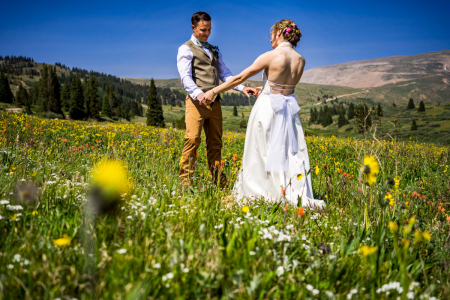 Freight wedding image from a Leadville, CO outdoor event