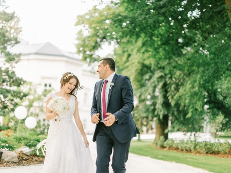 Europe Wedding Photography for Lake Como | Bride and Groom walking
