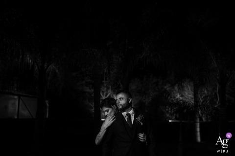 Rio Grande do Sul Bruid en bruidegom portret in zwart en wit