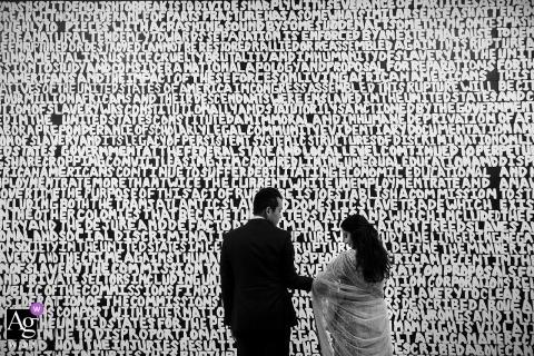 Fotografia di matrimonio Lake Tahoe di sposi in bianco e nero con Wall Art