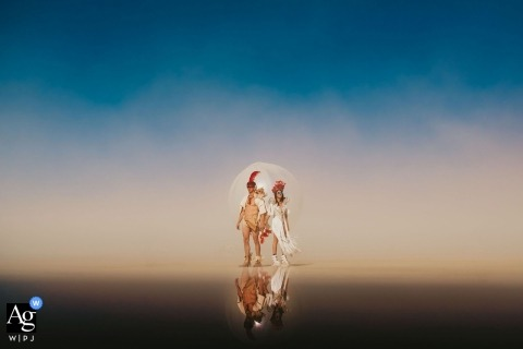 California Artistic Wedding Photo | Bride and Groom Portrait from Burning Man