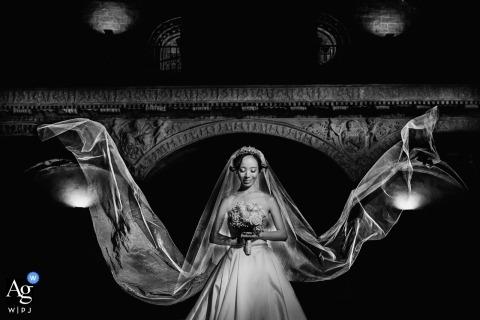 Madrid wedding day bride portrait