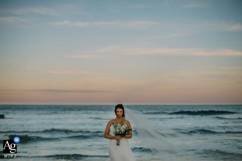 Rio Grande do Sul ślubna narzeczona portret na plaży