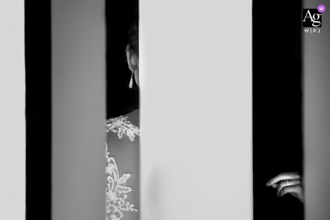 Hesse creative wedding photography | detail of bride's dress