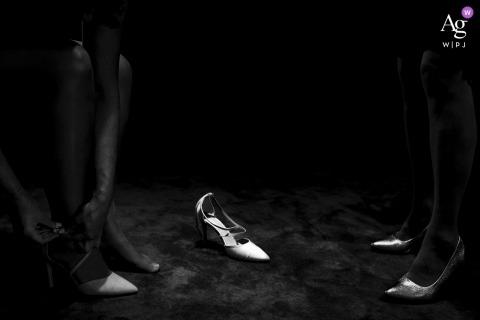 Creatieve artistieke de fotodetail van Utrecht van een aangestoken schoen