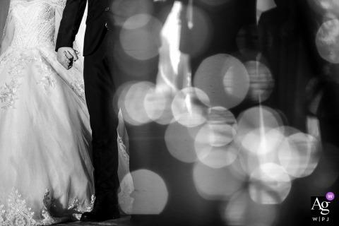 Image de détail de mariage Zhuhai des jeunes mariés se tenant la main