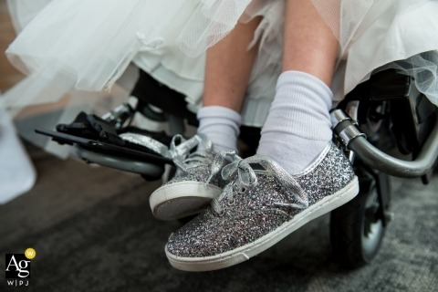 Minneapolis creative wedding photography | detail of girl sitting on wheelchair