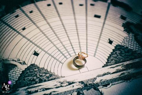 Reggio Calabria creatieve huwelijksfotografie | detail van trouwringen