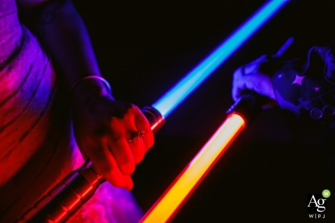 Star Wars Light Sabres en trouwringen