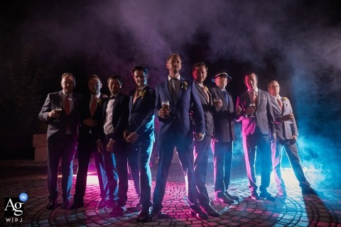 Groom & the best men portrait on wedding day - destination wedding Slovakia