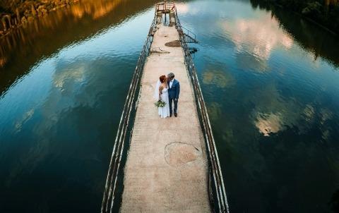 Ślub na jeziorze