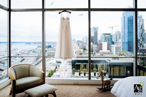Artistico creativo matrimonio fotogiornalismo - Seattle Eastern Washington Wedding Dress