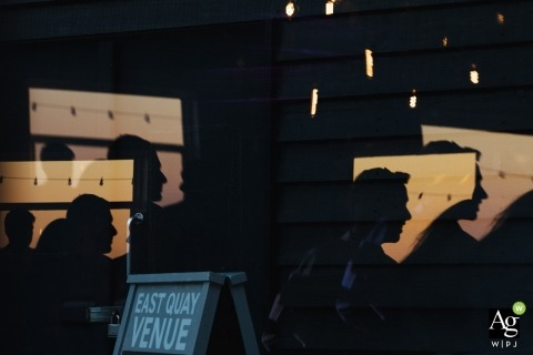 London creative wedding photography | detail of silhouettes of faces
