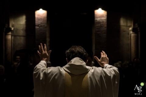 Mantua artistic creative photography detail of bishop in prayer