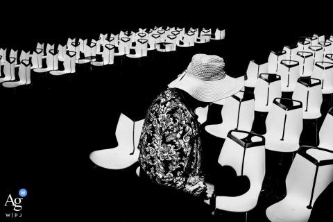 Hochzeitsfotodetail Kanadas künstlerisches von den Sitzen am Zeremonienstandort