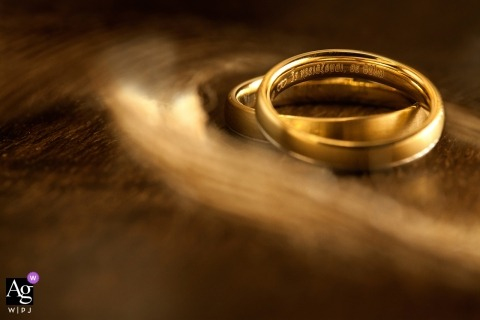 Wedding photograph from Attica | golden wedding rings in warm tones