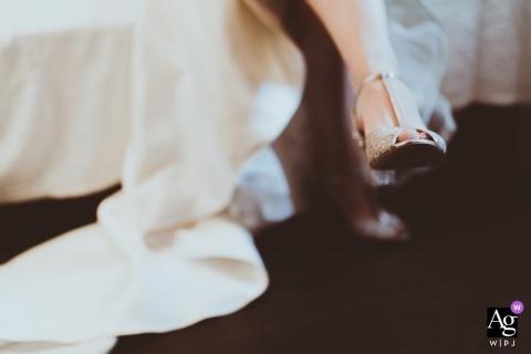 匈牙利布達佩斯婚紗攝影| Balatonfured照片的婚禮鞋和新娘的衣服