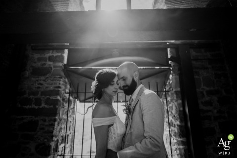 Agriturismo Pian Di Filetto wedding photographer: Love inside the tower | Bride and groom portrait