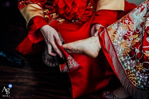 This shoe/foot detail photo was taken at Hoi An