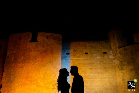 Siracusa love | Portrait of the bride and groom on wedding day in Sicily