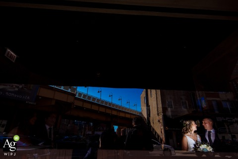 Ovation Chicago bride and groom portraits | Wedding venue photography