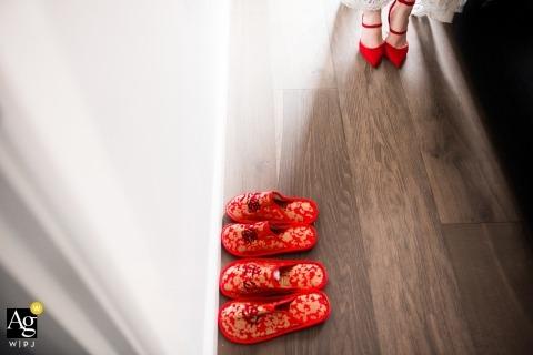 Victoria-AU trouwfotograaf - rode schoenen