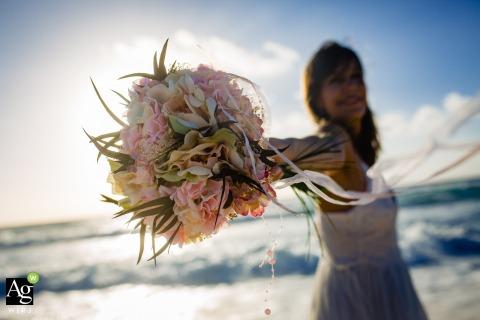 Isla Pasion Cozumel Bridal Bouquet | Wedding Photography Details