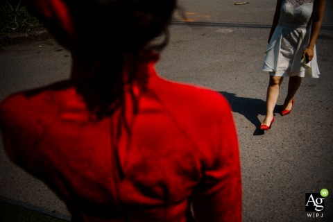 Haiphong, Vietnamwedding photography | Red dress and red shoes, wedding day detail