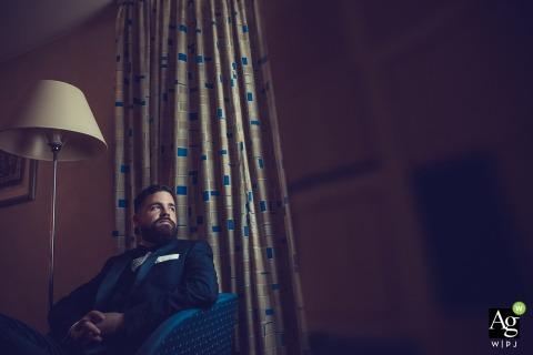 Hilton Sofia Wedding Venue Photo | Groom is Waiting alone